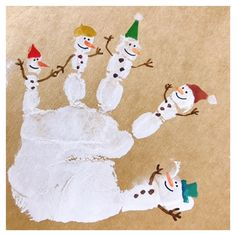 ideas for art painting for kids diy Christmas Activities, Christmas Projects, Kids Christmas, Art Projects For Adults, Easy Art Projects, Diy For Kids, Crafts For Kids, Fingerprint Art, Footprint Art