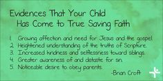 A Question for Every Parent: Is My Child a Christian?