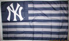 MLB New York Yankees Baseball 3 x 5 Banner American Flag Mancave Gift…