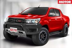 Here's what a new Toyota TRD Hilux could look like Toyota Hilux, Toyota 4x4, Toyota Trucks, Toyota Tundra, Toyota Tacoma, 4x4 Ford Ranger, Tacoma Truck, Lux Cars, Trophy Truck