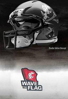 Washington State University Cougars - concept football helmet
