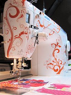 I want this for my sewing machine. Quiltastick - Longarm Quilting Machine Decals and Stickers