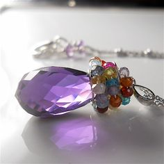 February birthstone, amethyst, at Your Daily Jewels  on Etsy