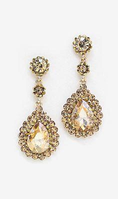 Crystal Valencia Earrings in Colorado Topaz