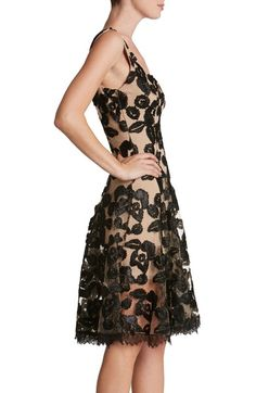 Main Image - Dress the Population Maya Lace Fit & Flare Dress