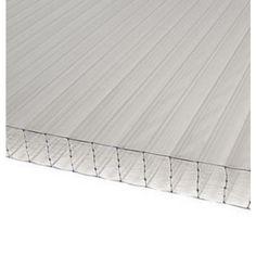 Épaisseur : 32 mm, largeur : 1.25 m, longueur : 3 m, finition : translucide, densité : 3.7 kg au m², économie d'énergie: valeur U = 1,14 (W:m²K).