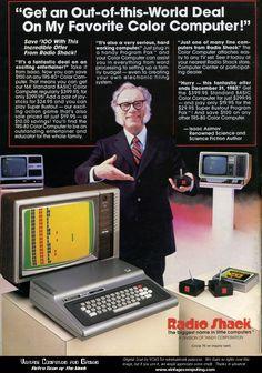 Isaac Asimov and Radio Shack's TRS-80 (Trash-80)