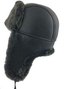 71970c57455 Zavelio Shearling Sheepskin Leather Aviator Russian Ushanka Trapper Winter  Fur Hat Review