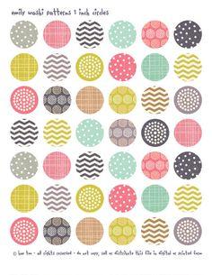 1 inch circles and squares,  $3.50, via Etsy.