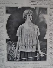 VINTAGE 1920s KNITTING CROCHET PATTERNS BOOK antique original women's sweaters
