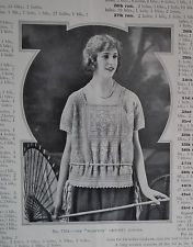 VINTAGE 1920s KNITTING CROCHET PATTERNS BOOK antique original women's sweaters