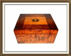 Large Antique Mixed Woods Amber Set Jewellery Box  £400.00