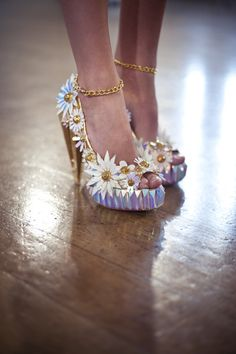 Inspiration for shoe embellishments - Shoes by Fred Butler & Rosy Nicholas