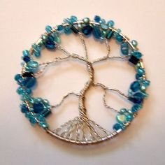 how to make a wire wrapped tree of life ornament.