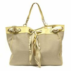 Gucci Positano Scarf Large Beige Canvas and Guccissima Leather Tote Bag 285586. Free US shipping and guaranteed 100% authentic! Major discount designer Gucci bags at www.QueenBeeOfBeverlyHills.com
