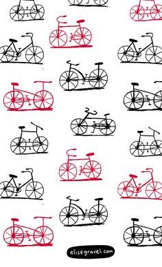 Elise Gravel Illustration • bikes #pattern