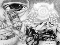 This Month's Black and White Art Work - 2009 May - Lowrider Arte Magazine