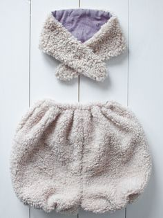 Much warmer - cosy bloomers and a scarf.