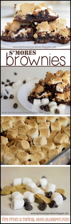Tips from a Typical Mom: Easy S'mores Brownie Recipe. Use my homemade brownies & these would be awesome!