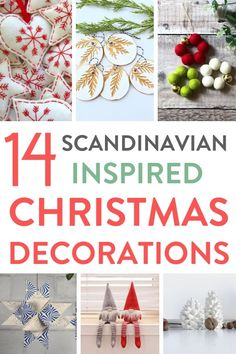 Ive loved curating this roundup of 14 beautiful Scandinavian inspired Christmas decorations for the home that you can buy on Etsy this Christmas. Theres wooden and felt decorations, lots of white, red and blue and a nod to hygge Scandinavian Christmas Decorations, Scandi Christmas, Hygge Christmas, Xmas Tree Decorations, Christmas Decorations For The Home, Etsy Christmas, Christmas Holidays, Christmas Crafts, Christmas Ideas