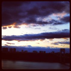 Cloudy Sky Over the Hudson River.  New York.  New York.