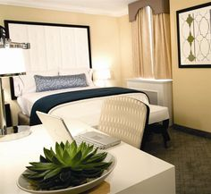 Justin David: Bed Throw, Desk Chair and Decorative Pillow  -The Allerton Hotel, Chicago -