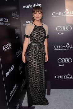 0947892ed6 Doctor Who's Karen Gillan swaps short skirts for full-length glamour ...