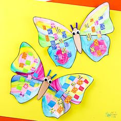 Arty Crafty Kids   Craft   Woven Paper Butterfly Craft - A sweet and simple Spring & Summer craft for kids, that's great for kids working on their fine motor skills. It's also very pretty too! #butterflycraft #kidscrafts #craftsforkids #easykidscrafts #craftideasforkids #summercrafts #springcrafts #minibeasts Older Kids Crafts, Summer Crafts For Kids, Paper Crafts For Kids, Crafty Kids, Winter Art Projects, Cool Art Projects, Arts And Crafts Projects, Paper Butterfly Crafts, Paper Butterflies