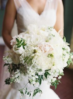 South Carolina Wedding at Belfair Plantation Photographed by Virgil Bunao Snippet & Ink Wedding Bells, Wedding Ceremony, White Clematis, Peonies Bouquet, Pink Peonies, Peony, Wedding Bouquets, Wedding Dresses, Sophisticated Bride