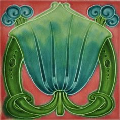 Shop Art Nouveau Vintage Design Feature Tile in 2 Sizes created by Ceramic_Tiles. Art Nouveau Tiles, Art Nouveau Design, Vintage Tile, Vintage Design, Azulejos Art Nouveau, Art Deco Artwork, Victorian Tiles, Artistic Tile, Pottery Designs