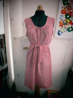 Red Gingham dress I made for myself Red Gingham, Gingham Dress, Halloween Costumes, Summer Dresses, Fashion, Moda, Fashion Styles, Fasion, Summer Outfits