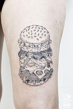 #tattoo #burger