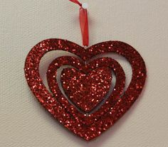www.photostrybydavid.com.  A heart within a heart, within a heart.  Valentine's Day Decorations at my wife Amy's office 2012.  The office of Paul Glass, M.D., Tucker, Georgia.