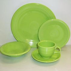 Fiesta®. Chartreuse ... retired  :(  They need to bring some of these great retired colors back !!