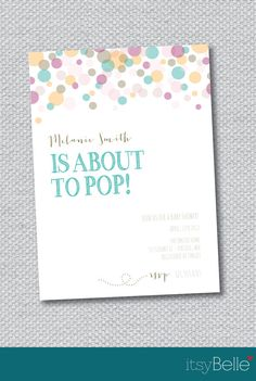 About to Pop Baby Shower -  Printable Invitation by Itsy Belle