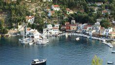 Loggos, Paxos, Greece.  The sleepiest little fishing village to spend 2 weeks! http://www.fougarostravel.com/en/paxos-accommodation.html