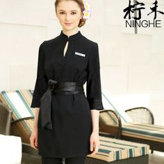 Special Chance of Beautician dress overalls new seven-point sleeve autumn winter beauty salon health hall cosmetology suite 2019 Price Descr. Spa Uniform, Uniform Dress, Hotel Uniform, Restaurant Uniforms, Staff Uniforms, Spring Work Outfits, Thai Massage, Winter Beauty, Overall Dress