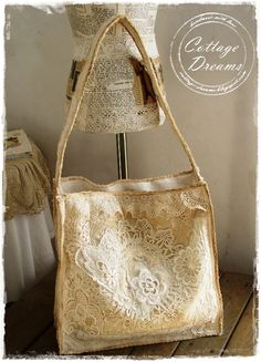 Use family lace, etc...to make a purse for bride.