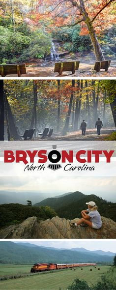 Bryson City, North Carolina is an outdoor mecca of waterfalls, hikes, scenic train rides, and mountain views
