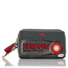anya hindmarch nurofen nylon shopping back zipped in pouch...