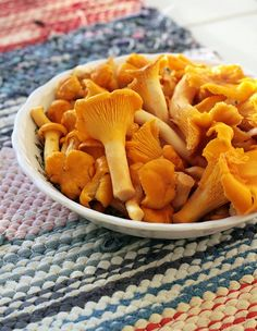 One of the best things about Finland. [Just today found some of these mushroom- kantarellit.]