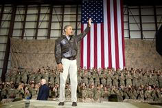 President Obama was seen wearing our Government Issue A-2 Flight Jacket, like the one we make for the US Air Force, while visiting troops in Afghanistan for Memorial Day Weekend. The President is wearing his A-2 with perfect, classic style–with khakis and a button up. Official White House Photo by Pete Souza