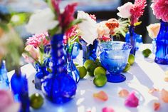 Set the Table | Rae Florae. Blue wedding decor.