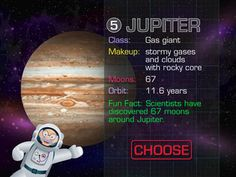 Grandpa in Space - travel and explore our solar system, learning fascinating facts about the planets, spaceships, astronauts and satellites. Educational Apps For Kids, Gas Giant, Space Games, News Apps, Class Activities, Our Solar System, Mini Games, Space Travel, 6 Years