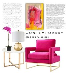 """""""Modern Classic"""" by conch-lady ❤ liked on Polyvore featuring interior, interiors, interior design, home, home decor, interior decorating, Zuo, Décor 140, modern and dcoindoorlamp"""