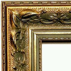 Wide Ornate Bronze Picture Frame Gold Silver 5x7 9x9