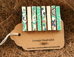 Clothespin Magnet Clips  Set of 8 mini clips by MAKINGtheNESTofIT, $6.75