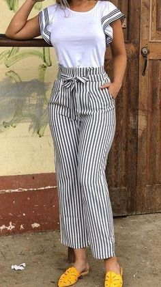 10 Practical Women's Clothes That Is Always Trending Un atuendo que se ve genial Casual Summer Outfits, Classy Outfits, Casual Dresses For Women, Chic Outfits, Clothes For Women, Look Fashion, Fashion Pants, Womens Fashion, Modest Fashion