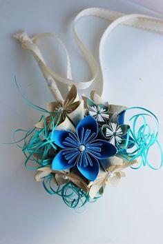 Kusudama Paper Flower Bouquet - Custom order. $45.00, via Etsy.