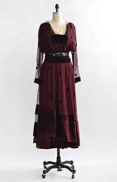 1926e0f901d0 Hearken to Elegance Gown / antique Edwardian gown / 1910s oxblood gown  Edwardian Gowns, Romantic